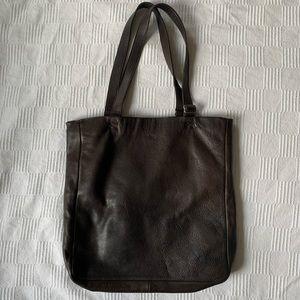 M0851 chocolat leather tote, $65